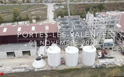 CemInEu : Pose des silos à Portes-Lès-Valence