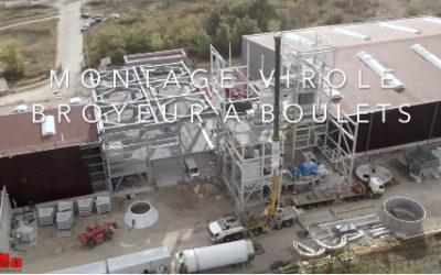 CEm'In'Eu : Installation de la virole du broyeur de Rhône Ciments